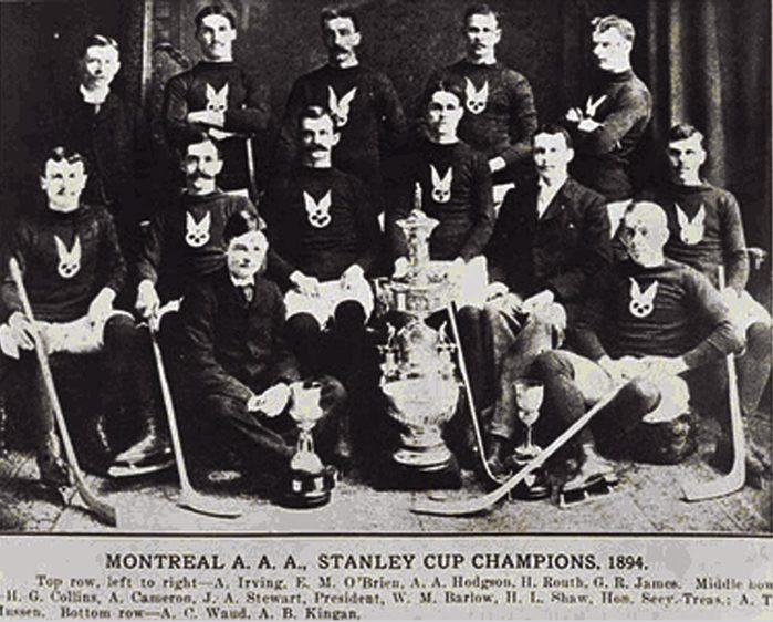 первые чемпионы кубка стэнли по хоккею